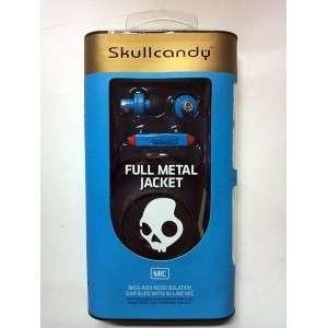 Skullcandy Full Metal Jacket Ear Buds   Shoe Blue/Baby Blue