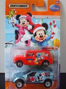 Disney Matchbox Target Exclusive Holiday Rides Mickey and Minnie Mouse