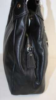 NWT COACH SOHO LEATHER HOBO BAG BLACK SILVER F17219 NEW 358 FREE US