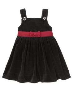 GYMBOREE HOLIDAY PANDA 09 BLACK DRESS JUMPER SIZE 3T BABY GIRL