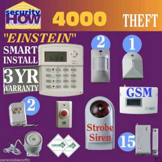 Home Security Alarm System. Wireless w Gsm auto dialer