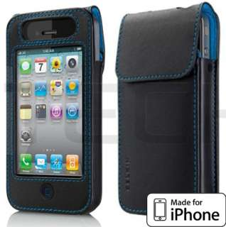Belkin iPhone 4 & iPhone 4S Black Leather Case Protective Cover Sleeve