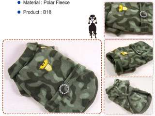 Dog Clothes Camouflage Fleece Camo Military Shirts,B18