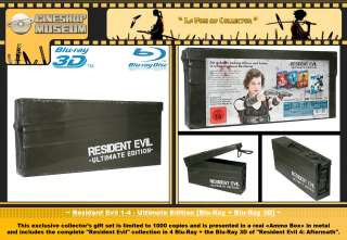 Resident Evil 1 4 Ultimate Edition Ammo Box Blu Ray 3D