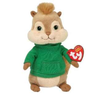 NEW ALVIN & THE CHIPMUNKS 2 THEODORE TY BEANIE SOFT TOY