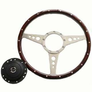 Landrover Defender Wood 14 Steering Wheel + Boss