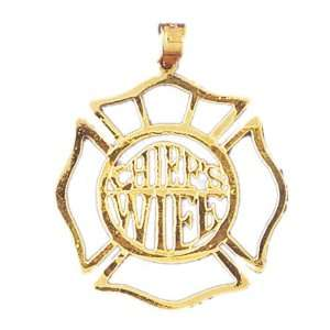 14kt Yellow Gold ChiefS Wife Pendant: Jewelry