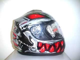 New Gmac Toxic Motorcycle Motorbike Helmet/Tinted Visor