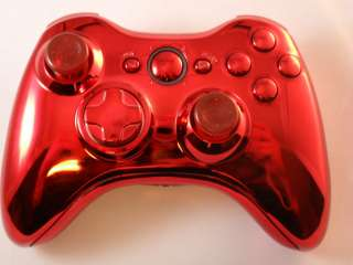 CHROME RED XBOX 360 MODDED CONTROLLER RAPID FIRE COD MOD MW3 BLACK OPS