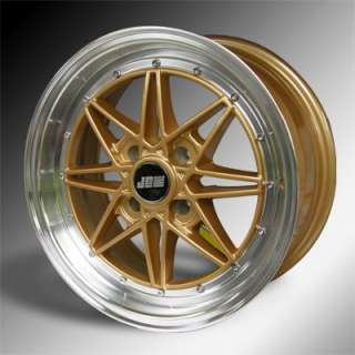 7x15 OS2 Gold Honda Civic EG 4x100 ET30 JDM style