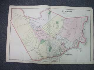 1875 Beers Atlas Map of KINGSTON, Eddyville, Flatbush, Ulster County