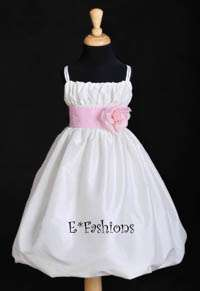 IVORY TAFFETA COMMUNION FLOWER GIRL DRESS 2 4 6 8 10