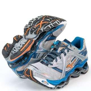 2012 Mizuno Wave Prophecy Mens Running Shoes Silver Blue Orange Free