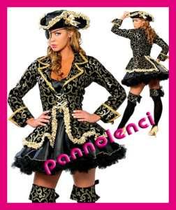 Costume vestito carnevale PIRATA DELUXE donna travestimento festa DL
