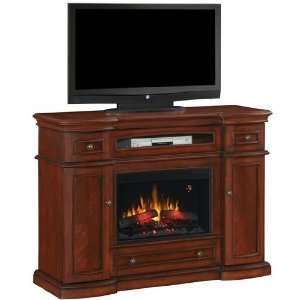 Electric Fireplace With Media Console   Vintage Cherry: Home & Kitchen