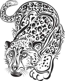 car auto hood door glass decal graphic Leopard 24X30