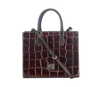 Dooney & Bourke Croco Embossed Leather Janine Tote   QVC