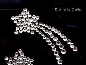 CLEAR diamante SHOOTING STARS rhinestone VAJAZZLE