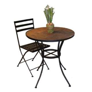 4D Concepts Round Bistro Table with Slate Top  Wayfair