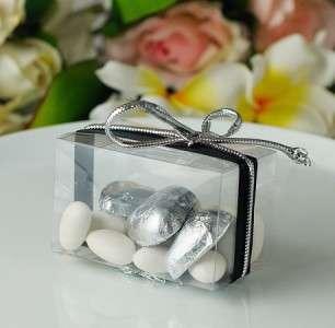 50 x Clear Shot Glass Wedding Bomboniere Favor Boxes