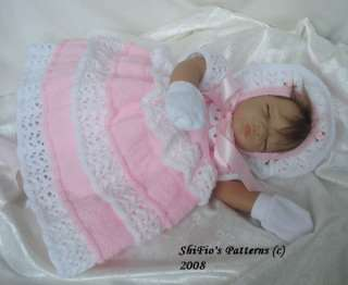 BABY KNITTING PATTERN REBORN DOLL KNITTING PATTERNS #92