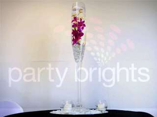 Large Champagne Flute Glass Table Vase 70cm Tall