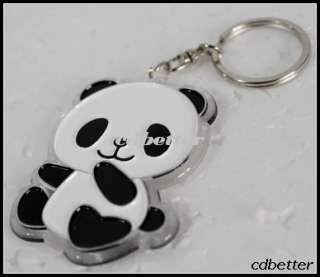 Womens Girls Cute Chinese Panda Character Pendant Keychain Keyring NEW