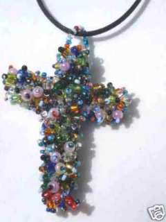 Fair Trade artisan crafted Necklace w cross pendant: Necklaces