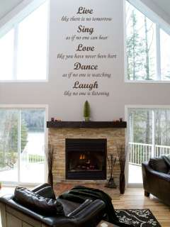 Live Sing Love Dance Laugh Quote Wall Window DECAL VINYL Lettering