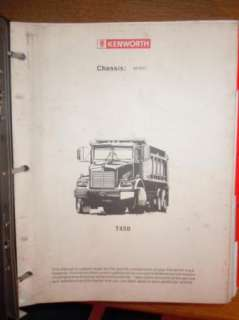 1997 KENWORTH T450 DUMP TRUCK CUSTOM SHOP MANUAL