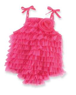 Mud Pie Baby HOT PINK CHIFFON BUBBLE 190109 Wild Child Collection