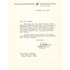 NASA Michael Collins Typed Letter Signed: Michael Collins: Books