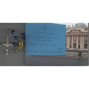 Pope Benedict XVI on April 6, 2011 with Holy Prayer Card Everything