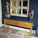 Tags Oak Slate Top Serving Table, Living & Decorating, Slate Top