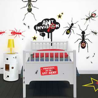 soldier ants giant wall stickers by funky little darlings
