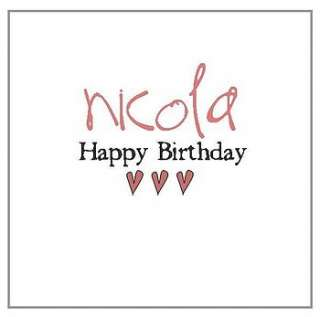 Personalised birthday cards which you can order in batches ahead of
