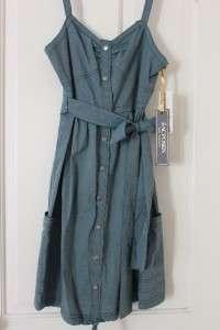 Zac Posen Target Chambray Blue Snap Dress Sz S or L NWT