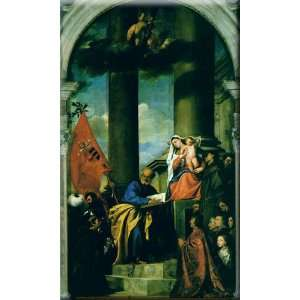 the Pesaro Family 9x16 Streched Canvas Art by Titian