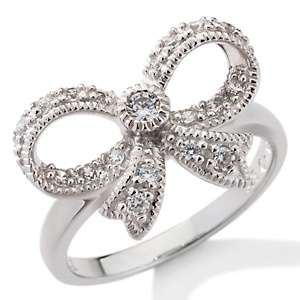Absolute™ Sterling Silver Vintage Inspired Bow Ring