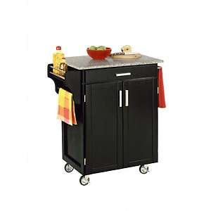 Home Styles Small Cuisine Kitchen Cart  Granite Top