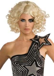 Lady Gaga Curly Blonde Wig   Lady Gaga Costume Accessories