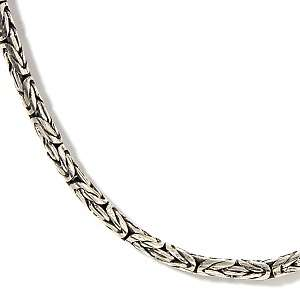 Sterling Silver Bali Byzantine 18 Necklace