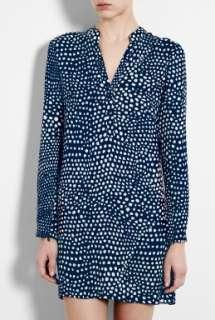 Tibi  Navy Polka Dot Shirt Dress by Tibi