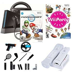 Nintendo Wii Mario Kart and Wii Party Game System with Dual Remote