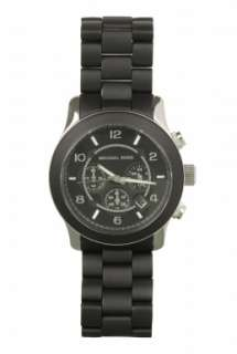 Black Unisex Chronograph Watch by Michael Kors Watches   Black   Buy