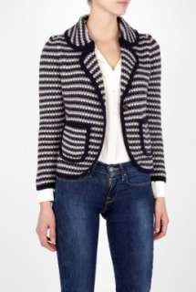 See by Chloe  Blue Waffle Knitted Blazer by See by Chloe