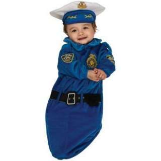 Police Officer Deluxe Bunting Infant Costume   Includes Bunting