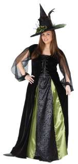 Goth Maiden Witch Plus Adult Costume   Includes dress and hat. Shoes