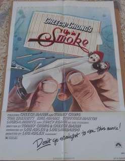 UP IN SMOKE CHEECH & CHONG MOVIE POSTER 1 Sheet 1978 ORIGINAL FOLDED