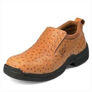 Mens JUSTIN Slip On Shoes Ostrich Skin Print 192